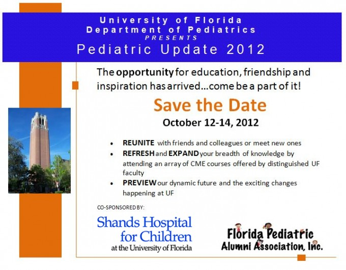 Pediatric Update - Save the Date