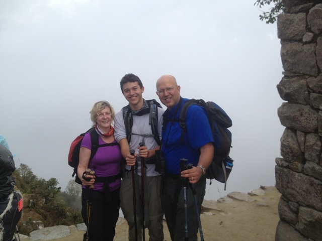 Dr. Slayton, Son and Barbara Bour at Sun Gate WEB