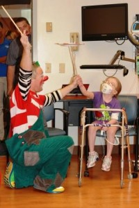 Child Life hosted a Ringling Bros. and Barnum and Bailey Circus visit with pediatric patients.