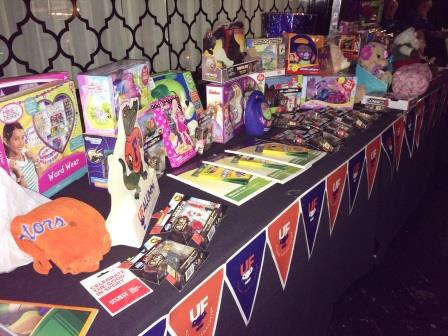 Some of the toys donated to the children's hospital.
