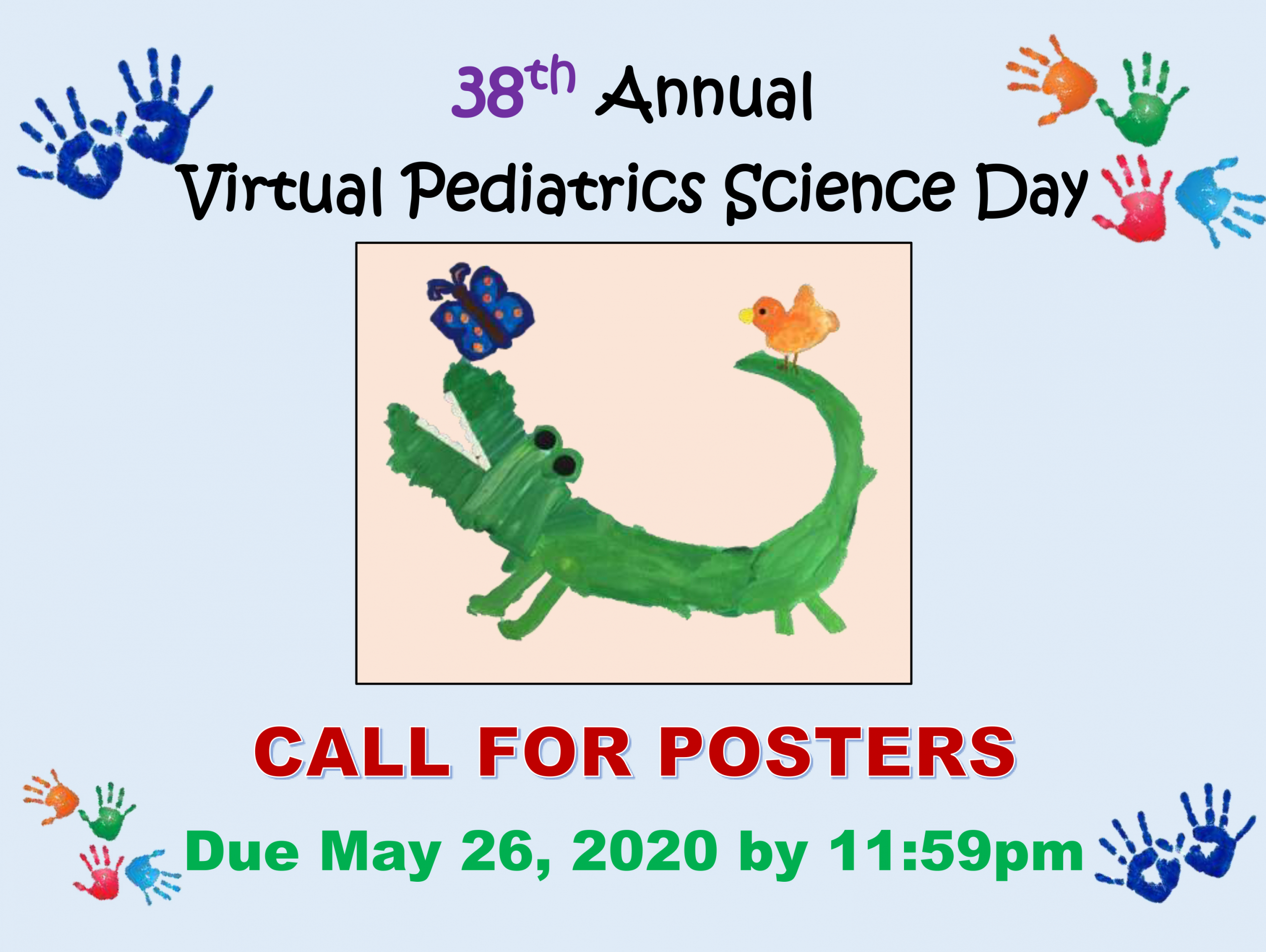 2020 Pediatrics Science Day Call for Posters Flyer