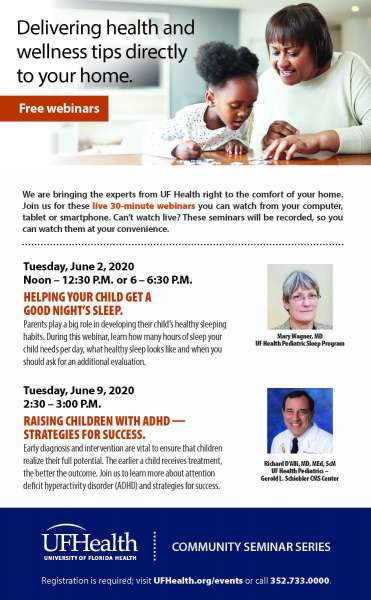 Flyer for free June 2020 webinars
