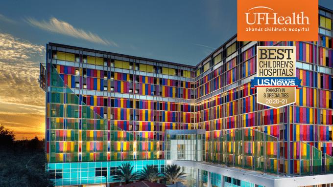 Zoom Meeting Background - UF Health Shands Children's Hospital, 3 Specialties