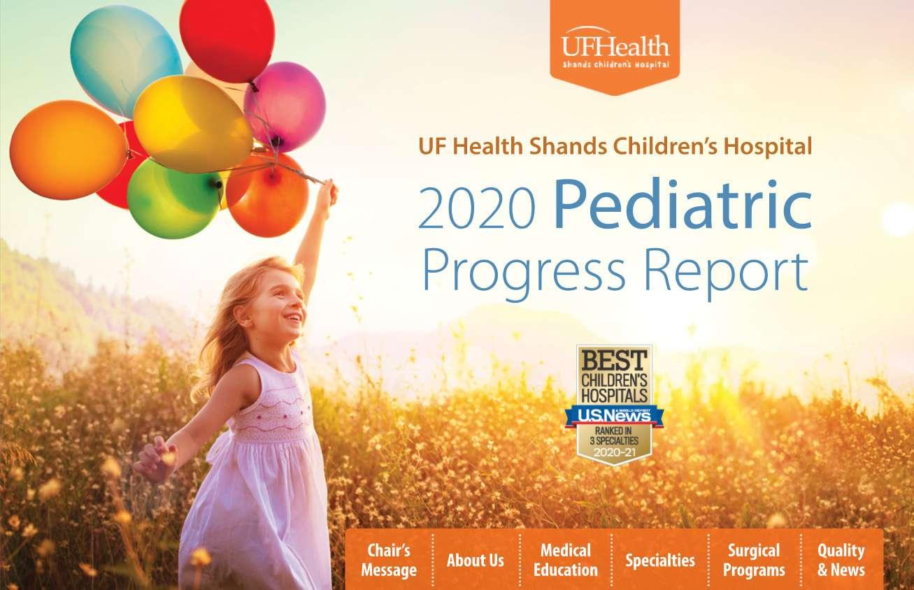 2020 Pediatric Progress Report Cover